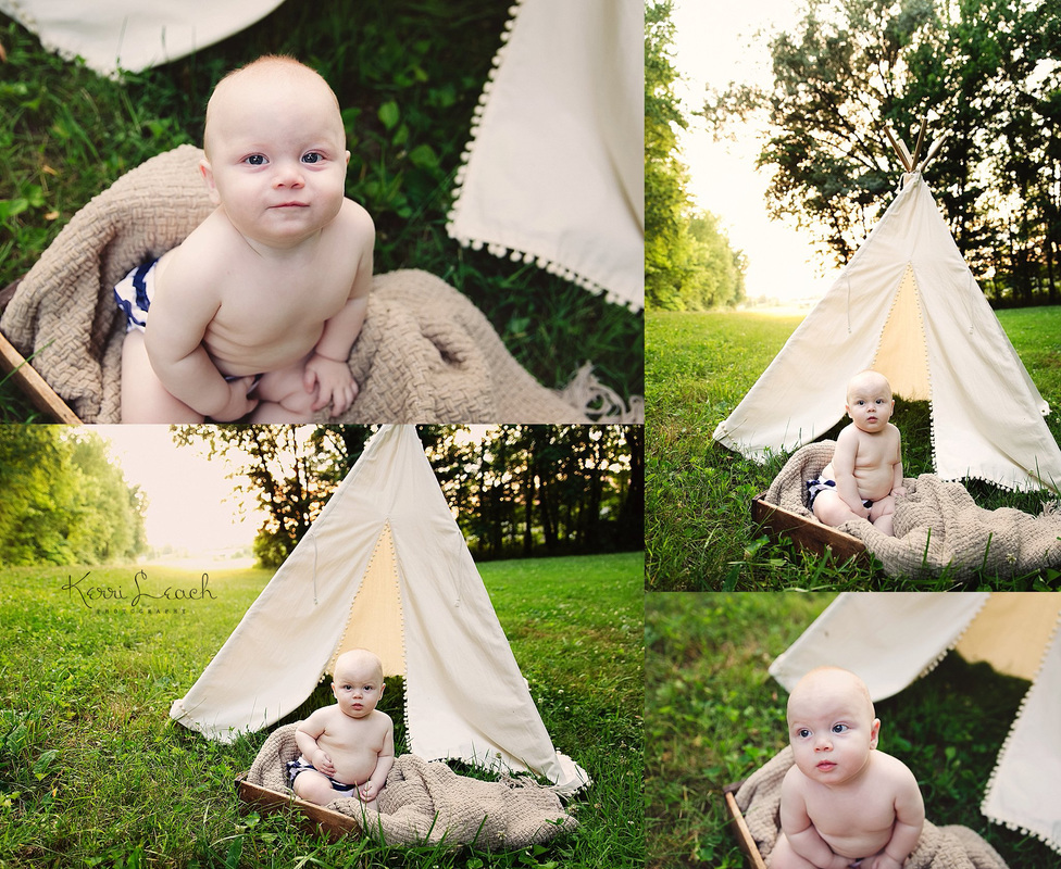 KERRI LEACH PHOTOGRAPHY-EVANSVILLE IN PHOTOGRAPHER-6 MONTH SESSION-6 MONTH MILESTONE