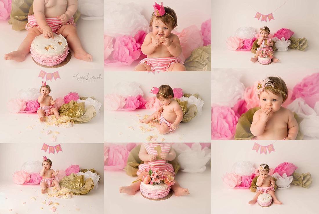 Kerri Leach Photography-1st birthday session-1st birthday smash session-Smash cake session-Evansville IN photographer