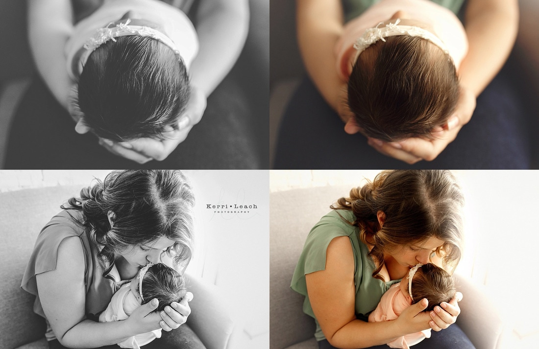 Newborn parent posing | Newborn poses | Newborn pose ideas | Newborn photography | Kerri Leach Photography | Newborns