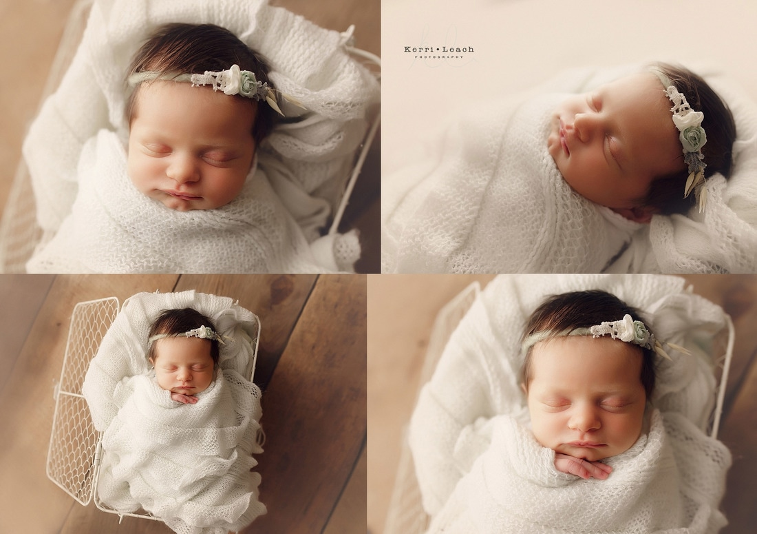 Newborn poses | Newborn pose ideas | Newborn photography | Kerri Leach Photography | Newborns | Newborn prop posing | Newborn session
