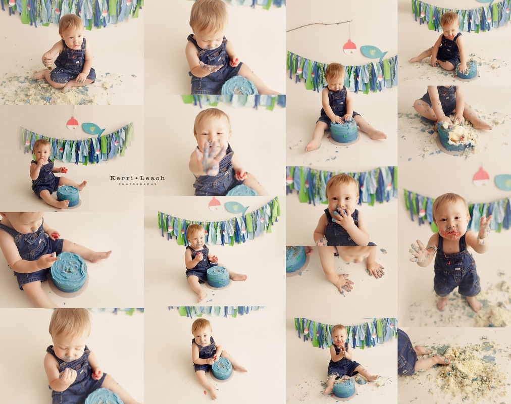 Milestone session | Newburgh, IN photographer | Kerri Leach Photographer | 1 year milestone | Owensboro area photographer | Smash cake session | 1 year smash session Evansville