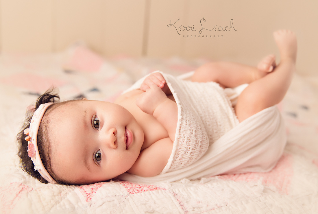Kerri Leach Photography-3 month session-Evansville IN newborn and child photographer