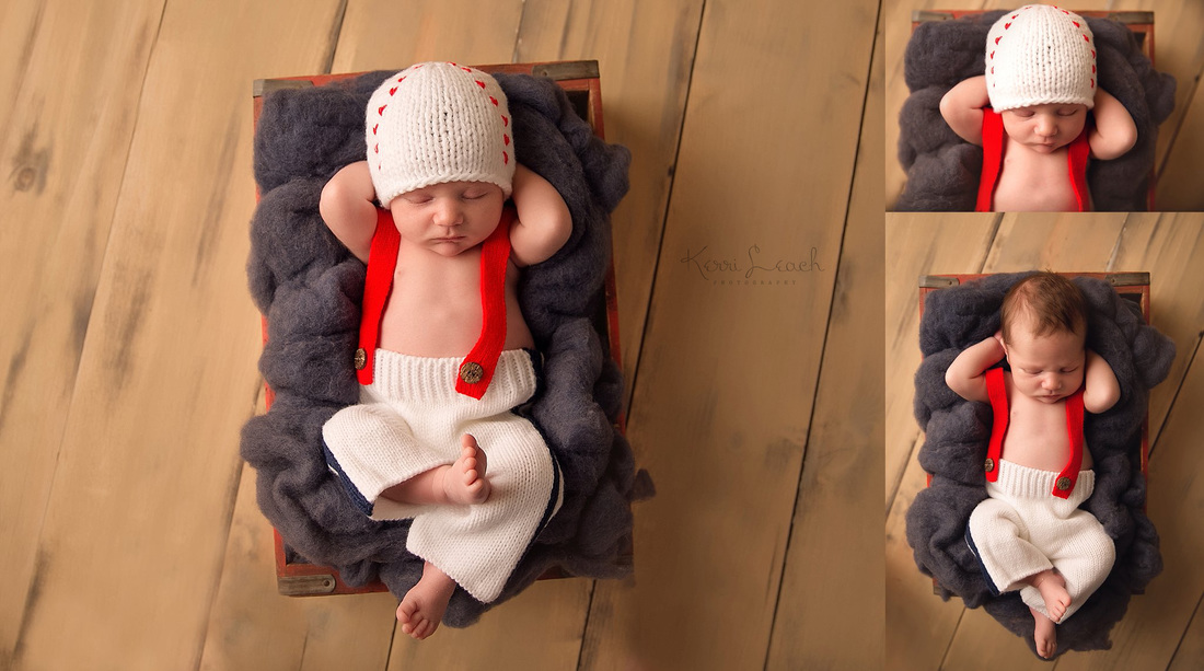 KERRI LEACH PHOTOGRAPHY-EVANSVILLE IN NEWBORN PHOTOGRAPHER-NEWBORN POSES-NEWBORN BASEBALL PROPS