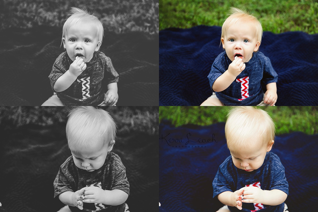 Kerri Leach Photography-1 year milestone-1 year smash session-Evansville IN newborn, child photographer
