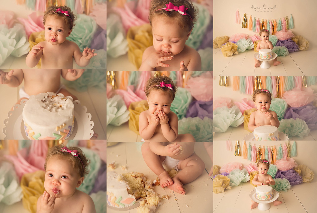Kerri Leach Photography-Evansville IN cake smash-Evansville IN baby photographer-Smash cake session ideas-Smash cake session-1 year studio session