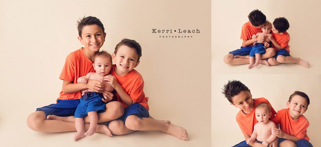 3 month milestone | 3 month milestone poses | Kerri Leach Photography | Evansville, IN child photographer | Indiana photographer | Photo studio Newburgh | Sibling photo