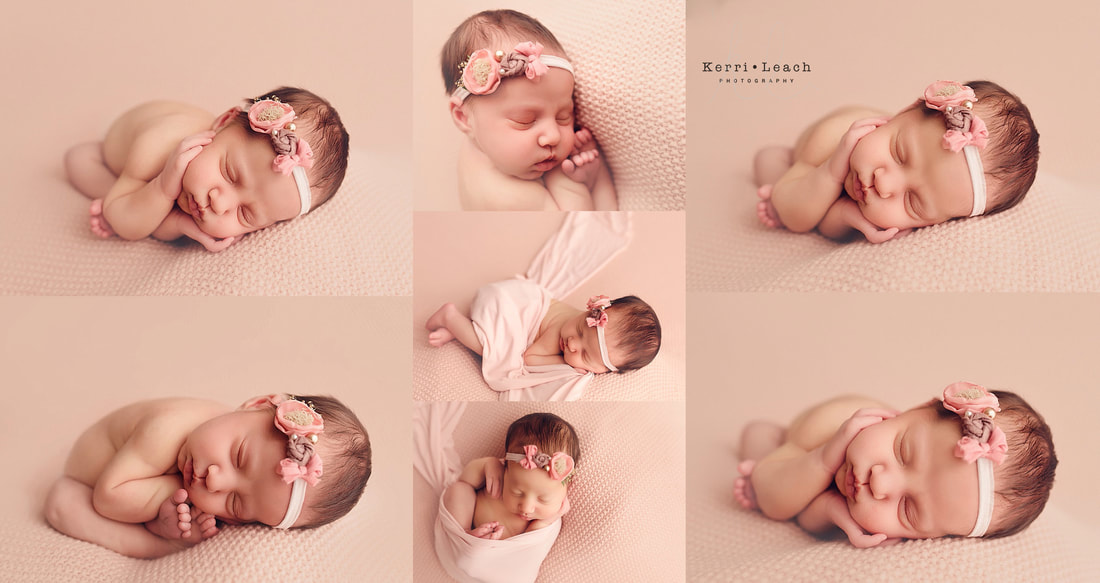 Kerri Leach Photography | Newborn photographer Indiana | Indiana newborn photographer | Newborn photographer Evansville | Newborn session bean bag poses | Newborn pose flow