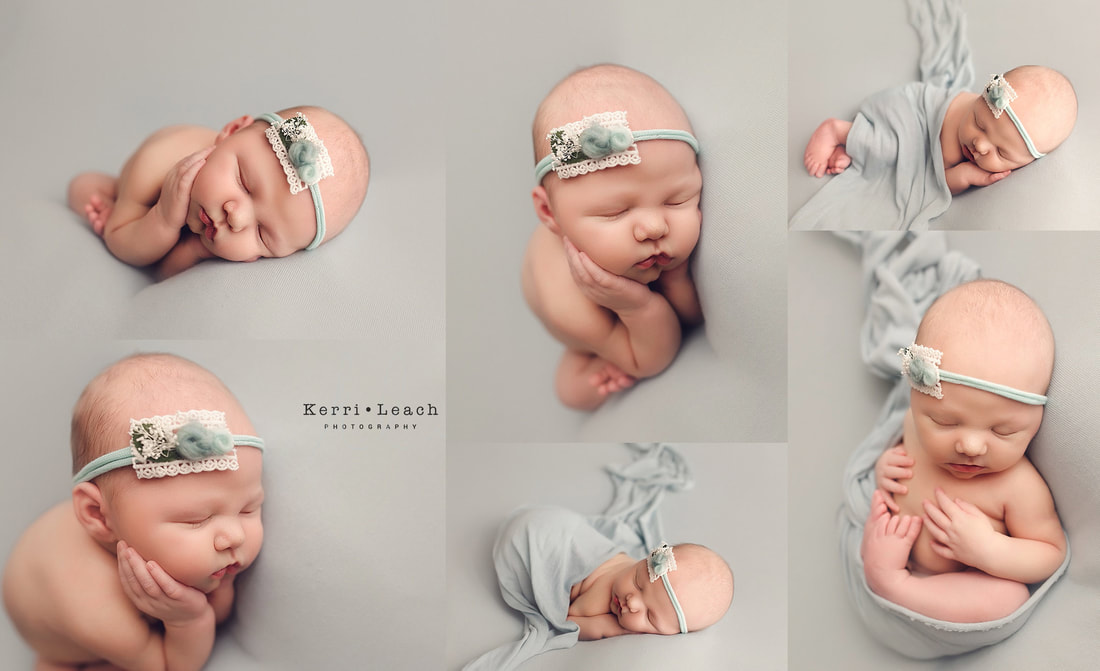 Newborn bean bag pose flow | Newborn bean bag posing | Newborn session mentoring | Newborn photographer Evansville | Kerri Leach Photography | Newborn photography studio Newburgh, IN