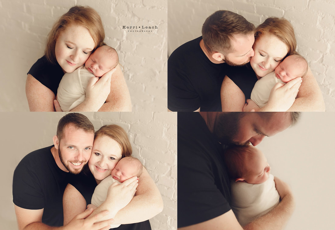 Parent/newborn posing | Newborn session Evansville | Indiana newborn photographer | Kerri Leach Photography