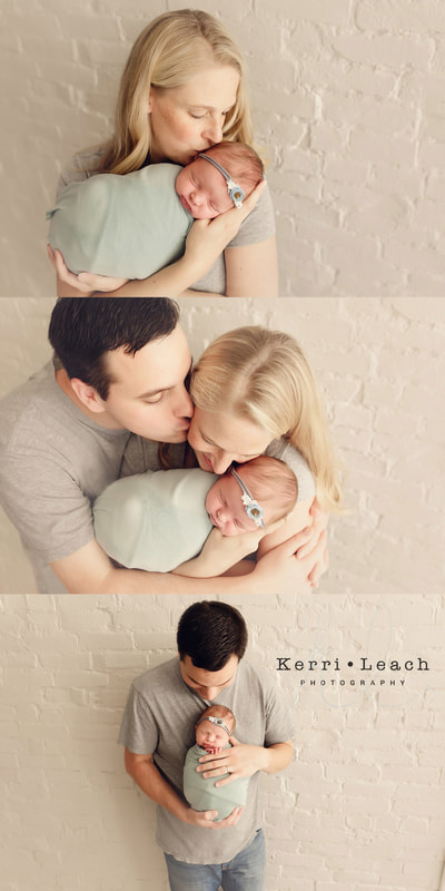 Newborn parent posing | Newborn session Newburgh, IN | Evansville, IN newborn photographer | Kerri Leach Photography
