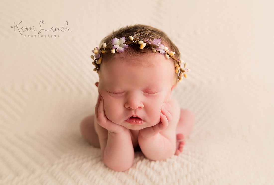 Kerri Leach Photography-Newborn photographer Evansville IN-Newborn froggy pose-Newborn photography ideas