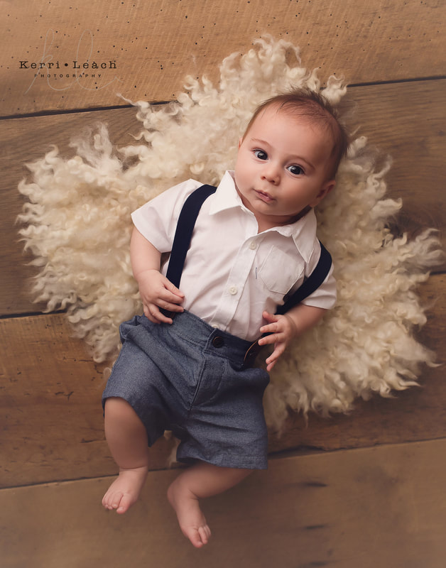 3 month milestone | 3 month milestone poses | Kerri Leach Photography | Evansville, IN child photographer | Indiana photographer | Photo studio Newburgh